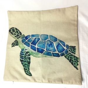 """Other - Sea Turtle Watercolor Print Throw Pillow Case 17"""""""